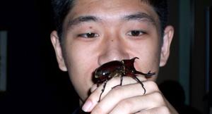 Satoshi with friend
