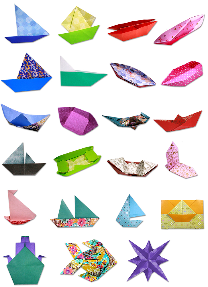 origami at sea montage